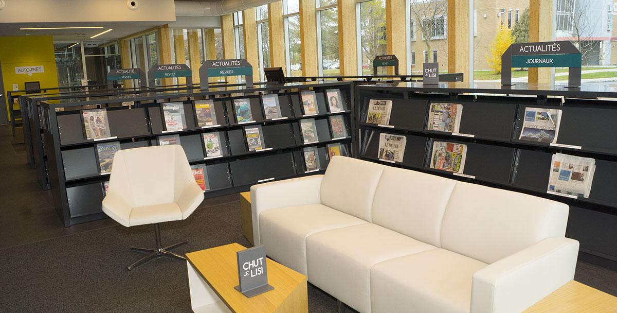 signalisation biblioth que paul mercier tla architecture. Black Bedroom Furniture Sets. Home Design Ideas